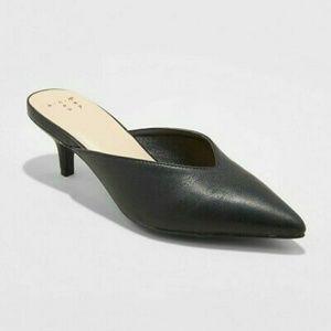 A New Day Aleska Slip On Pointed Tie Heel Mules